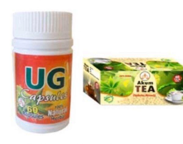 Ug capsule and Akum tea