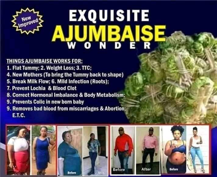 Aju mbaise Herbs Tea For Flat Tummy For Sale In Nigeria