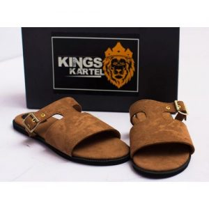 Brown Bruze Slide Slip-On Sandals For Sale In Nigeria