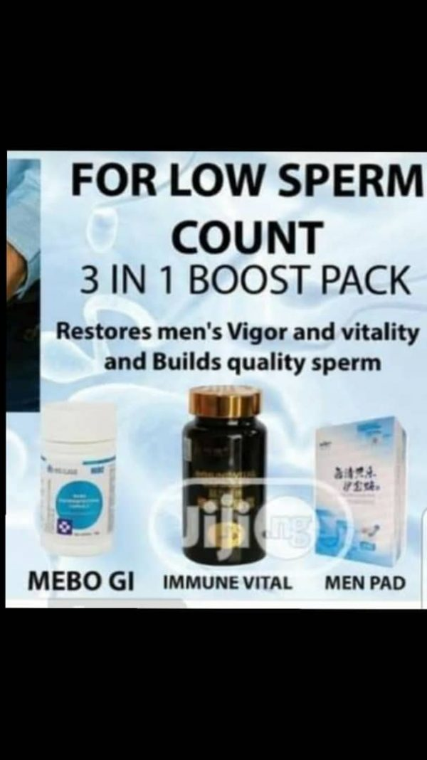 Low Sperm Count 3 In 1 Boost Pack For Men