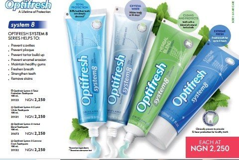 Best Optifresh System 8 Crystal Whitening Toothpaste In Nigeria