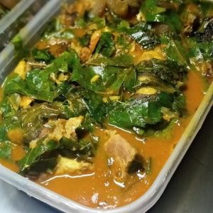 Fresh cooked Nigeria food