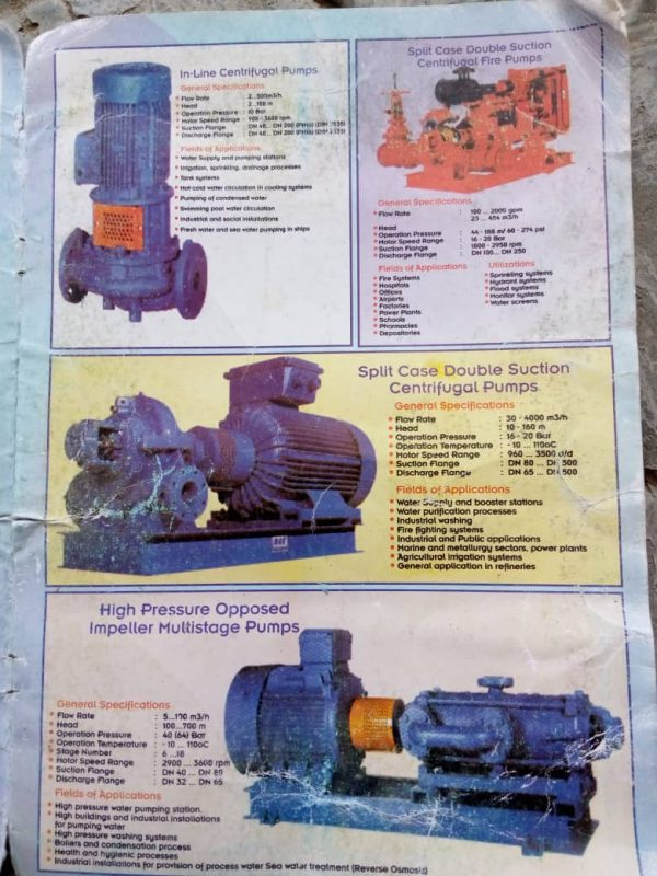 Inline Centrifugal Pumps For Sale In Nigeria