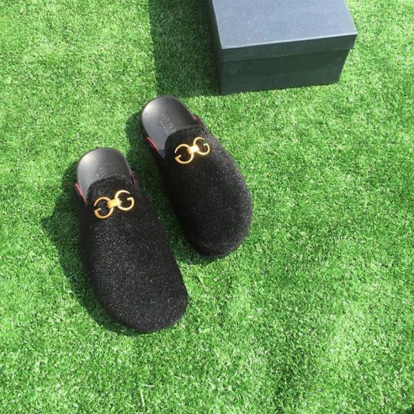 Best Black Mules Men Gold Suede Shoes Online In Nigeria