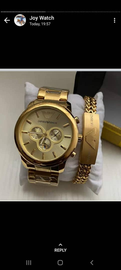 Best Men Gold Wrist Watch And Bracelet For Sale