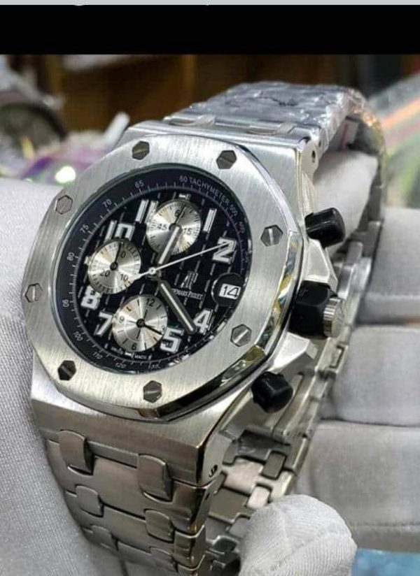 Affordable AP Silver Chain Wrist Watch For Sale.