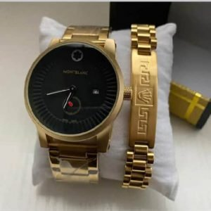 Buy Mens Gold Watch With Bracelet For Sale.