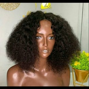 Deep Wave Curls Human Hair Wigs With Closure