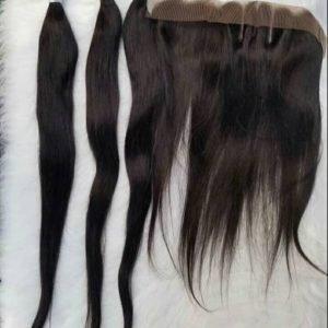 26'' Sleek Straight Human Hair Wigs For Sale In Lagos