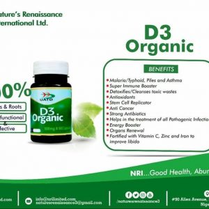 Nature's Renaissance D3 Organic supplement