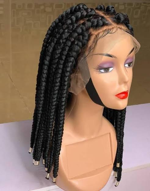 Frontal Jumbo Short Braided Wigs For Sale In Lagos