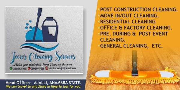 Jerros Cleaning Services Ajalli, Awka, Anambra