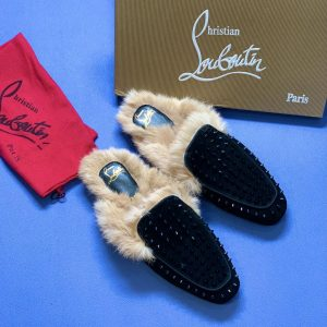 Christian Louboutin Spike Fur Slippers In Nigeria For Sale